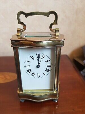 French Carriage Clock serpentine rare Working with key