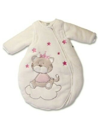 Jacky Brand New NOS Sleeping Bag Off White Pink Cat 62/68 With Tags