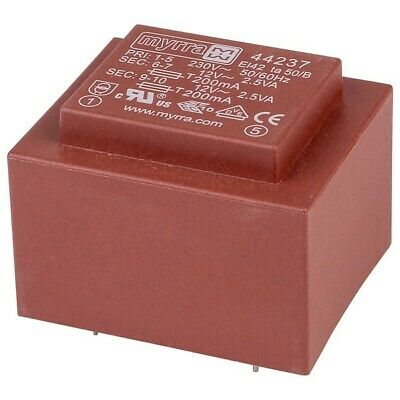 Myrra 44237 EI42 Encapsulated PCB Transformer 230V 5VA 0-12V 0-12V