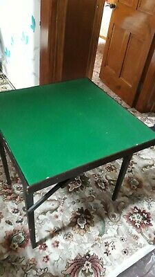 Antique folding card table