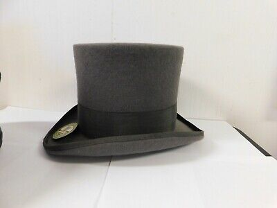 73a34ca97 SCALA GREY WOOL Top Hat Mad Hatter Xl New With Tag Mens Victorian ...