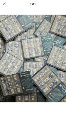 100 Greggs coffee vouchers all stamped
