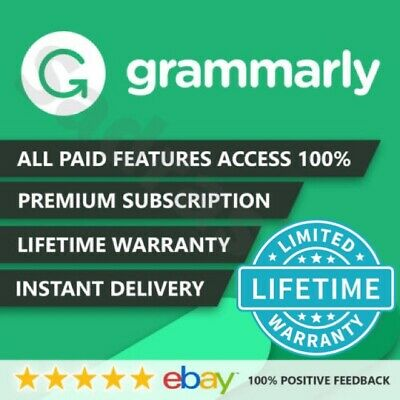 Grammarly | Premium Lifetime account | LIFE TIME WARRANTY | INSTANT DELIVERY |