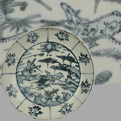 Antique Chinese Porcelain Jiajing / Wanli 16/17th c Ming Swatow Large pl...