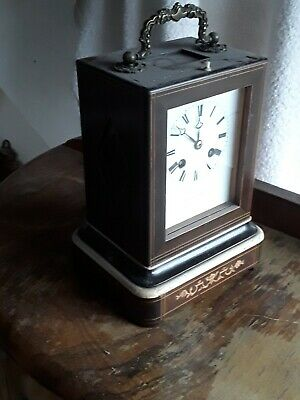 Antique French Table Clock 8 Day Striking  large clock working