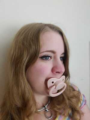 Adult Pacifier Soother Dummy from the dotty diaper company GREEN BROWN AND WHITE