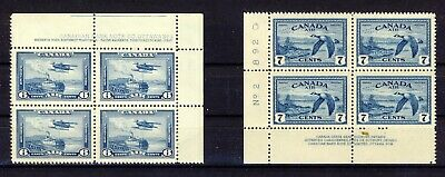 8x Canada MNH stamps 2x Pl.Block of 4 #C6-6c MNH C9-7c MNH Cat. Value=$54.00+