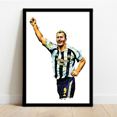 Newcastle United - Alan Shearer - Framed Art Print