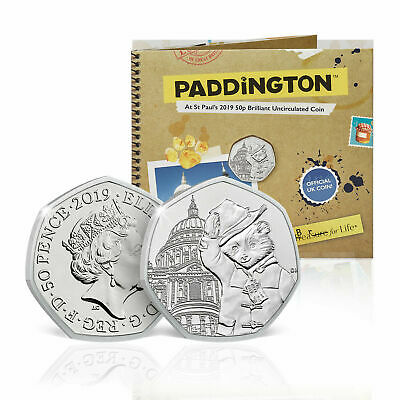 Paddington Bear 50p Coin Official Royal Mint at St Pauls Cathedral Pack