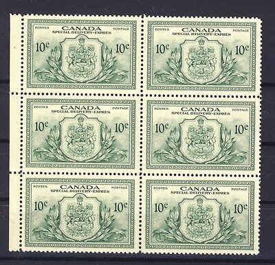 Canada MNH Special Delivery stamps  Block of 6 No.E11 MNH VF Cat. Value + $45.00