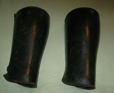 Rare Original Vintage Pair Of Police Leather Leggings From The 1940's