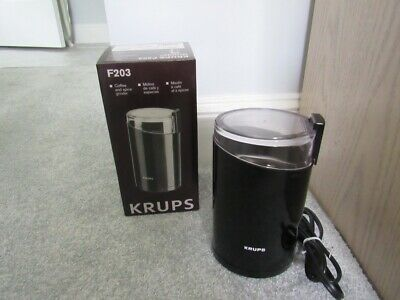 KRUPS F203 Electric Spice and Coffee Grinder  Black+ bonus one without box