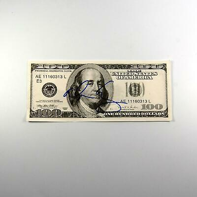 Alice Cooper Signed $100 Bill Oversized Authentic Autographed