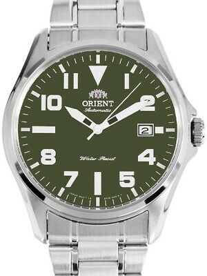 Orient Automatic Military Green Dial Black Metal Strap FER2D006F MADE IN JAPAN