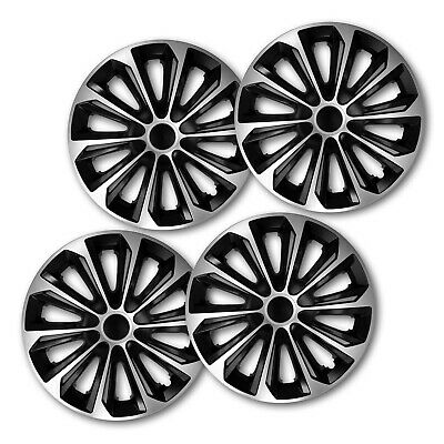 HUB CAPS 16 Inch Wheel Trims HQ ABS Plastic Universal Push-In Set of 4 (011)