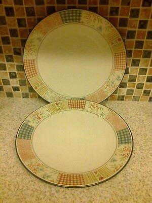Marks and Spencer Patchwork Stoneware 27.5cm Dinner Plates x 2