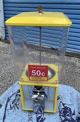 *** 50 Cent Used Northwestern Super 60  Capsule, Gumball, Candy Vending Machine