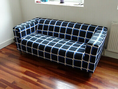 Fine Ikea Klippan Sofa Cover Fabric Black And Blue White Checked Frankydiablos Diy Chair Ideas Frankydiabloscom