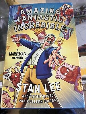 Amazing Fantastic Incredible Hardcover Book WRITTEN AND SIGNED BY STAN LEE! 🔥