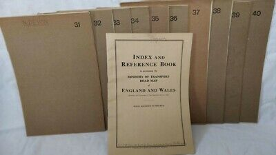 10 half-inch to 1 mile 1920's Ordnance Survey road maps, sheets 31 to 40