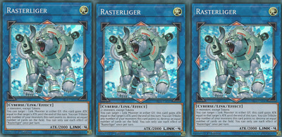 3X	Rasterliger	FIGA-EN047	Super Rare	Fists of the Gadgets	Yugioh