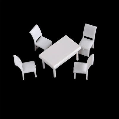 Table Chairs Miniature Landscape Fairy Garden Decoration Dollhouse Accessory T V