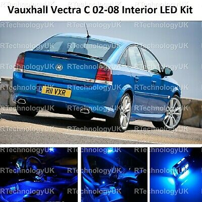 Blue Premium Vauxhall Vectra C Mk2 02-08 Led Light Interior Upgrade Kit Vxr Sri