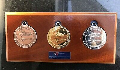 Set Of Commemorative Medals For 2003 World Indoor Athletics Championships