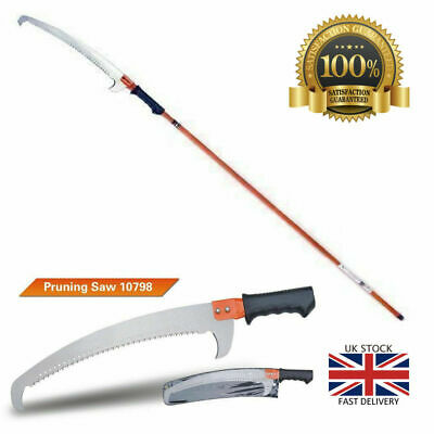 Heavy-Duty Tree Pruning Saw With Extendable Pole 1.33-2.43M Garden Tool Cutting