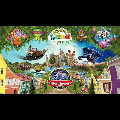 Four Alton Towers E-Tickets for Saturday 28th September