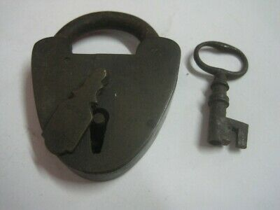 Antique brass and iron Padlock Patented
