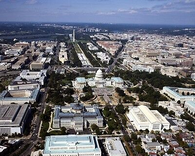 New 11x14 Photo: Aerial View of United States Capitol & Beyond, Washington, D.C.