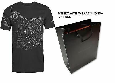 T-SHIRT & GIFT BAG McLaren Honda Team Members' Formula One 1 F1 Alonso M US