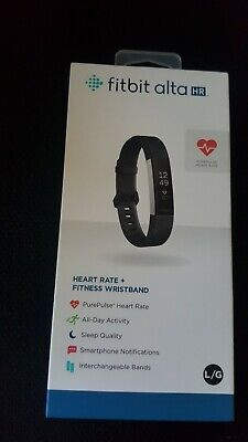 Fitbit Alta HR Activity Tracker+ Heart Rate Large Black FB408SBKL