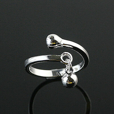 925 Solid Sterling Silver Plated Women/Men NEW Fashion Ring Gift SIZE OPEN HR02