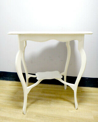 Table White French Shabby Chic Louis XVI design..