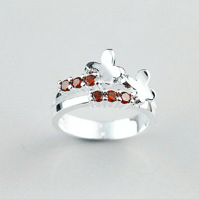 925 Solid Sterling Silver Plated Women/Men NEW Fashion Ring Gift SIZE 8 HR09