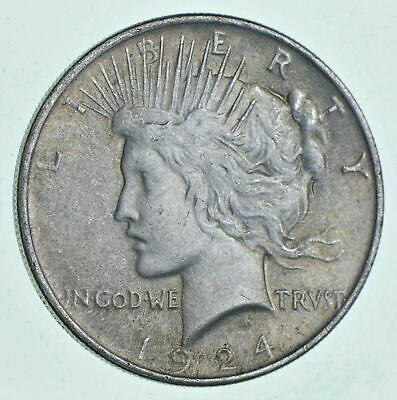 VG-XF 1924 - Peace Silver Dollar Eagle Reverse - 90% US Coin Buy Bulk & Save