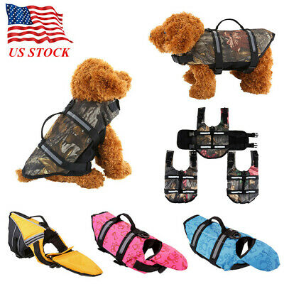 Pet Dog Life Preserver Jacket Swim Surf Safety Floatation Vest Saver XA-L USA