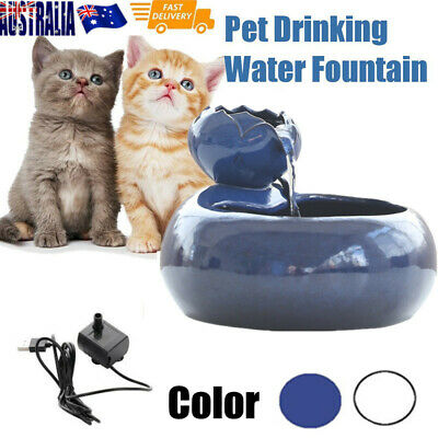Pet Drinking Water Fountain Electric Cat/Dog Automatic Bowl Filter & USB Cables