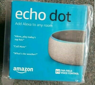 Amazon Echo Dot 3rd Generation 2019 w/ Alexa Voice Media Device - Charcoal NEW!