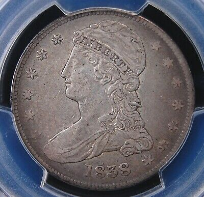 "1838 Reeded Edge Bust ""Half Dol."" Pcgs Xf 40 Nice Even Lustrous Light Grey"