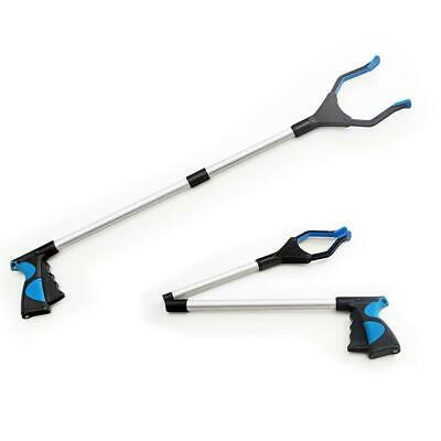 2Pcs Foldable Garbage Pick Up Tool Grabber Reacher Stick Reaching Grab Claw Grip