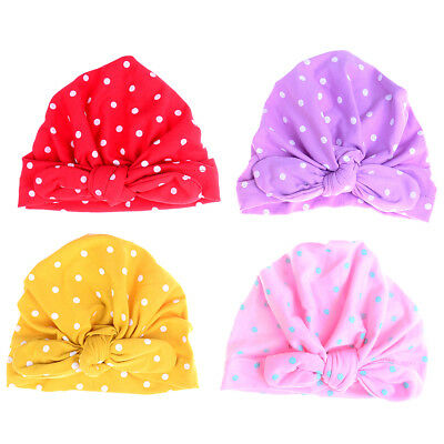 Sweet dot baby girl hat with baby turban cap for girls elastic infant accessoSC