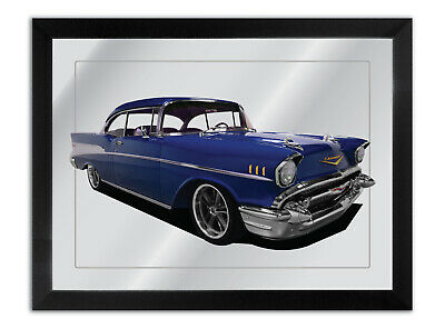 Bar Mirror Artwork Suit Red 1957 Chevrolet Enthusiast Others Available