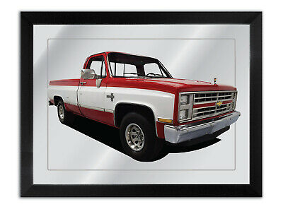 Bar Mirror Artwork Suit Red 1987 Chevrolet Silverado Enthusiast Others Available