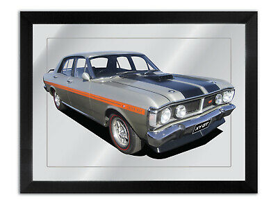 Bar Mirror Artwork Suit Silver Fox Ford Xy Gt Enthusiast Others Available
