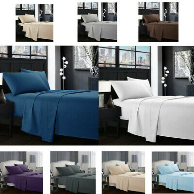 Egyptian Comfort 1800 Count 4 Piece Deep Pocket Bed Sheet Set King Queen Size H6