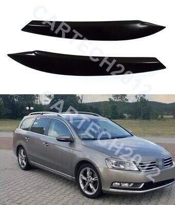 Fits Volswagen VW Passat B7 2010-2014 Headlights Eyebrows, ABS PLASTIC, tuning