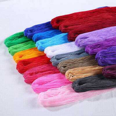 Braided Macrame Silk Satin Cord Rope DIY Jewelry Bracelet Making Thread Wire 1MM